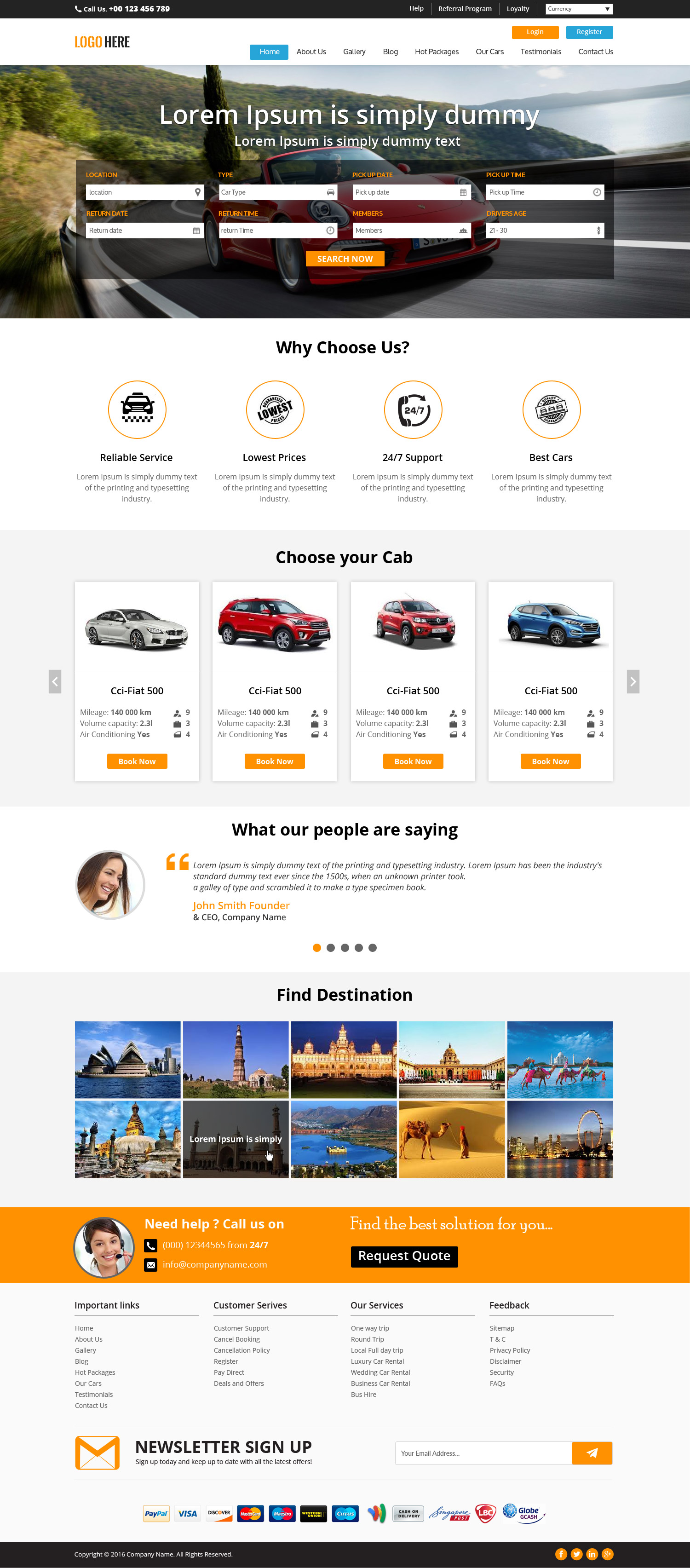cab booking website template bootstrap grid layout. Black Bedroom Furniture Sets. Home Design Ideas