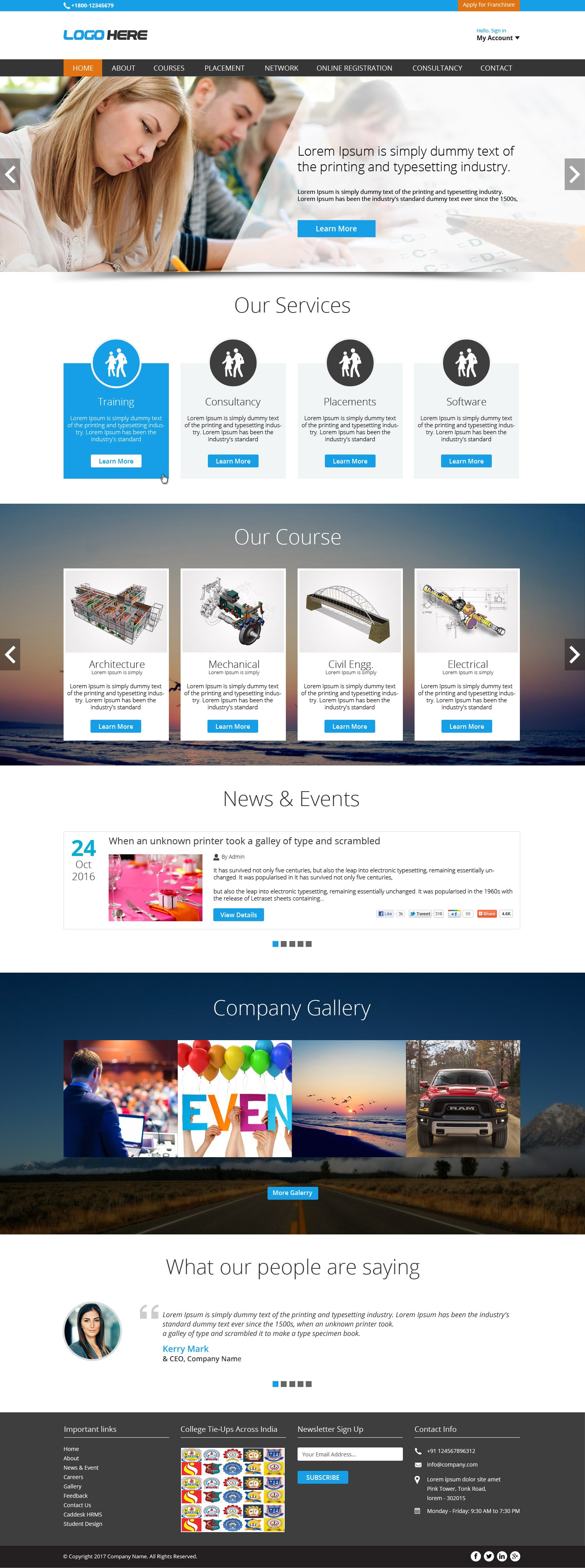 Consulting and Business Solutions free psd design